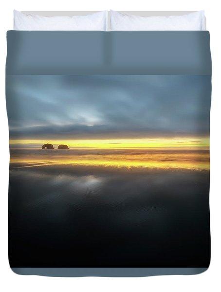 Twin Rocks Sunset Sliver Duvet Cover
