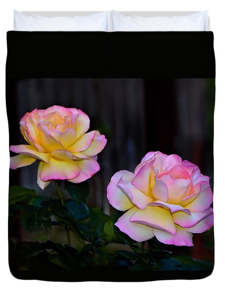 Twin Roses Duvet Cover