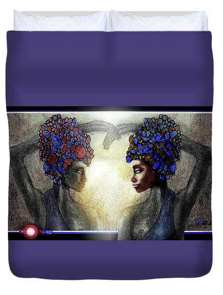 Twin Sisters Duvet Cover by Hartmut Jager