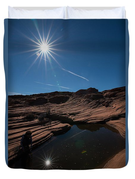 Twin Stars Reflection Duvet Cover