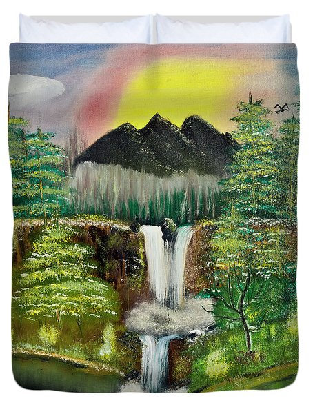 Twin Waterfalls Duvet Cover