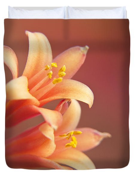 Twin Yucca Flowers Duvet Cover