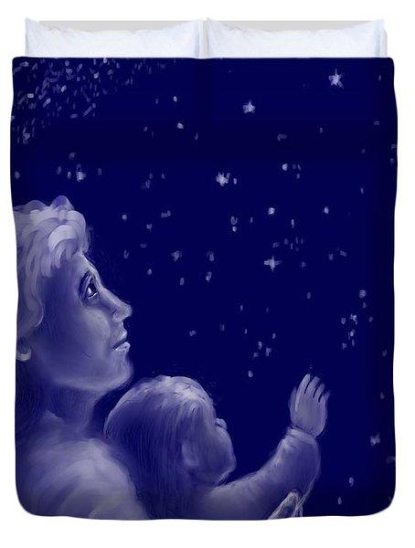 Twinkle Twinkle Little Star Duvet Cover by Dawn Senior-Trask
