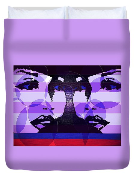 Twins In Purple Duvet Cover