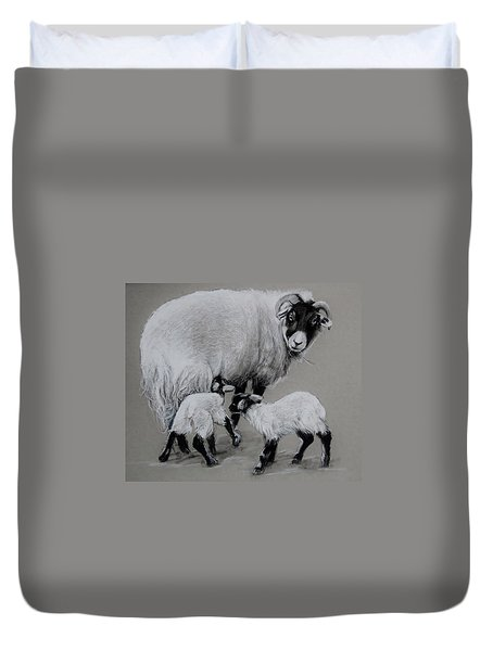 Twins Duvet Cover by Jean Cormier