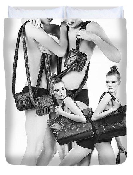 Twins Model Agency Duvet Cover