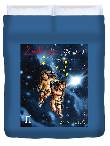 Twins Of Heaven Duvet Cover