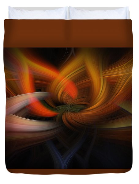 Duvet Cover featuring the photograph Twirl Abstract by Skip Tribby
