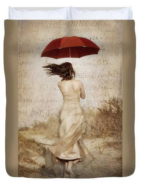 Twirling Painted Lady Duvet Cover