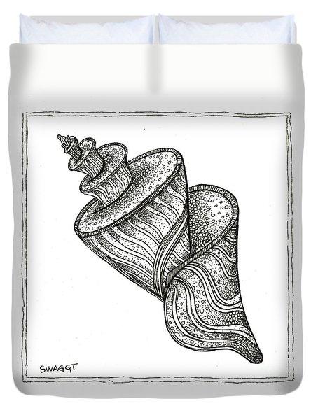 Twirly Shell Duvet Cover