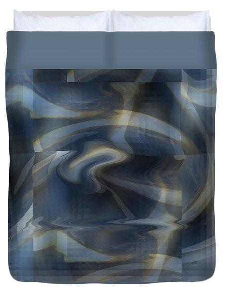 Twisted Blue Plaid Duvet Cover