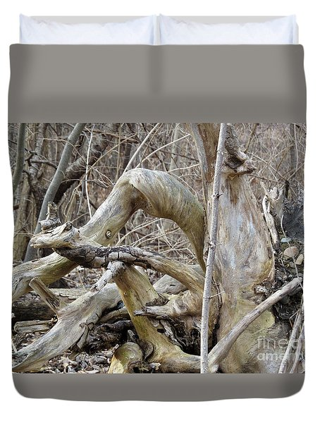 Twisted By Nature Duvet Cover by Sandra Church