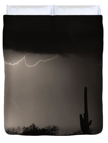 Twisted Storm - Sepia Print Duvet Cover by James BO  Insogna