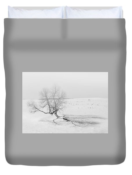Duvet Cover featuring the photograph Twisted Tree by Dan Traun