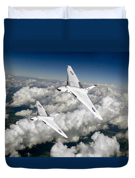 Two Avro Vulcan B1 Nuclear Bombers Duvet Cover