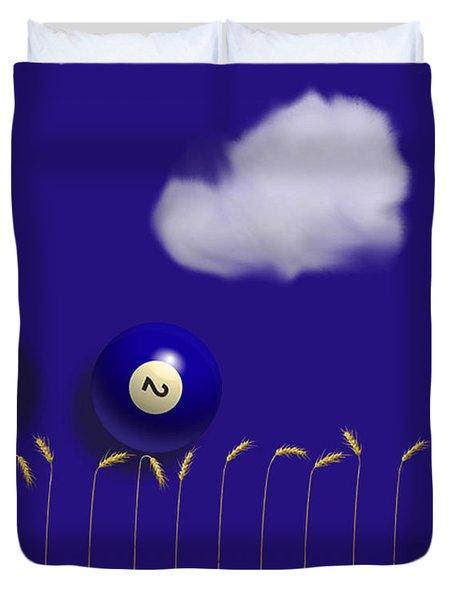 Blue Balls Duvet Cover
