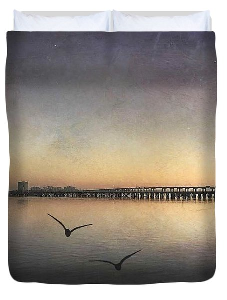 Two Birds At Dawn Duvet Cover