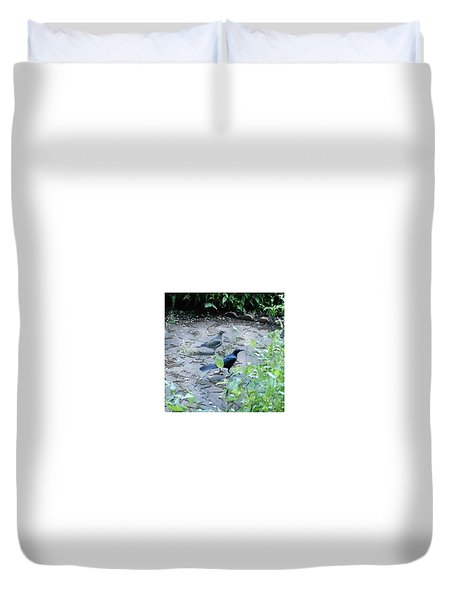 Duvet Cover featuring the photograph Two Birds by Felipe Adan Lerma