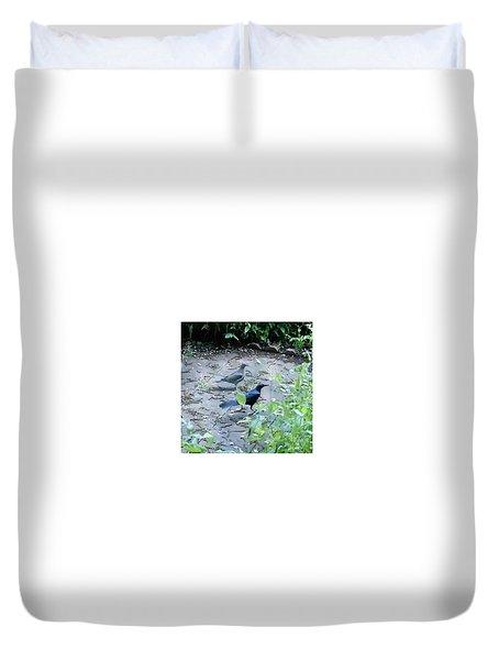 Two Birds Duvet Cover by Felipe Adan Lerma