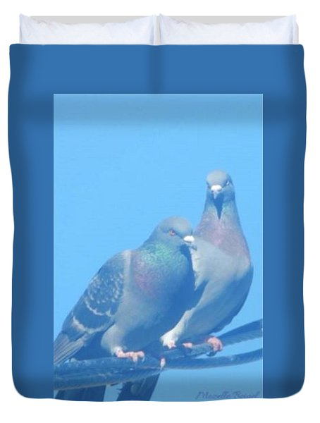 Two Birds In Spring Duvet Cover