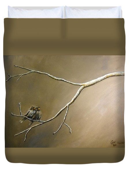 Two Birds On A Branch Duvet Cover