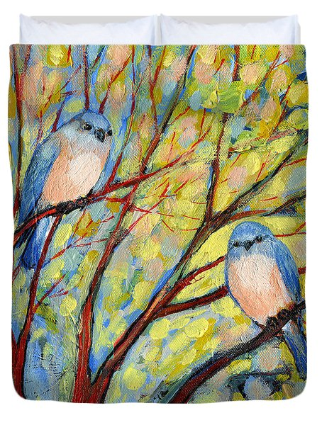 Two Bluebirds Duvet Cover