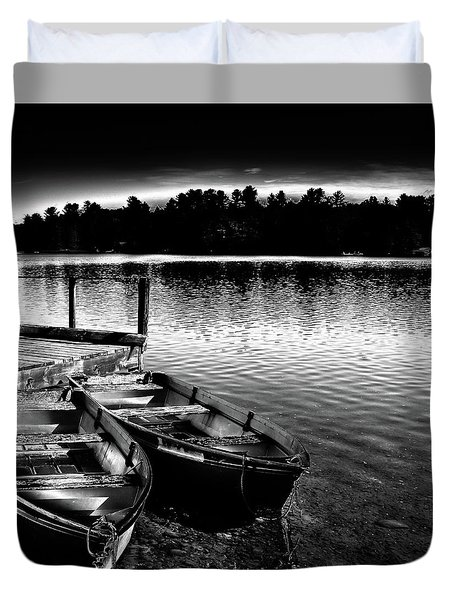 Duvet Cover featuring the photograph Two Boats by David Patterson