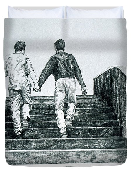 Two Boys Duvet Cover