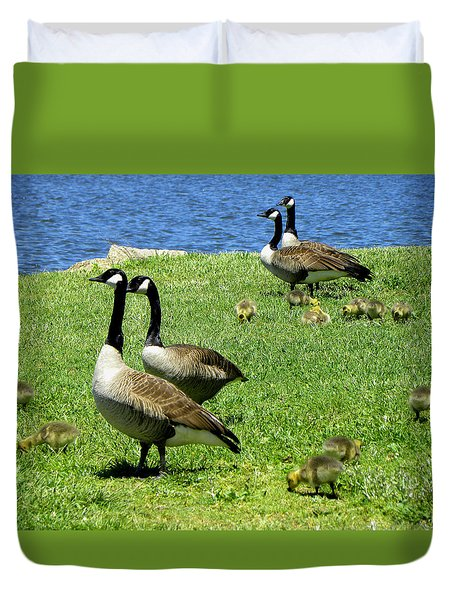 Duvet Cover featuring the photograph Two By Two  by Sandi OReilly
