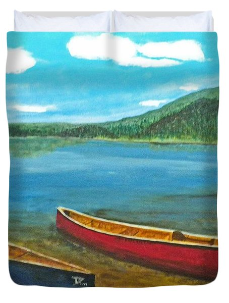 Two Canoes Duvet Cover