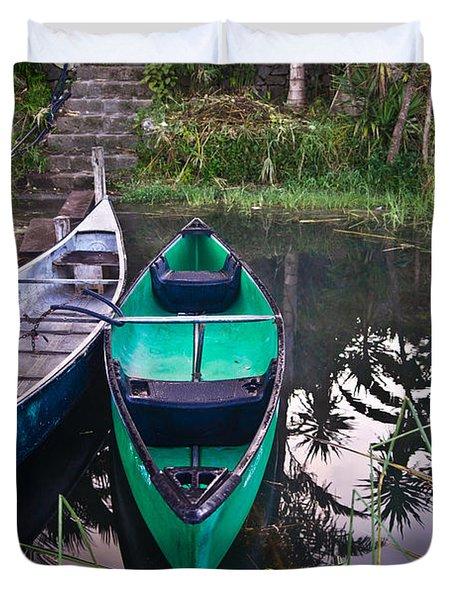 Two Canoes Duvet Cover by Douglas Barnett