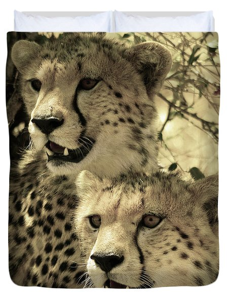 Two Cheetahs Duvet Cover