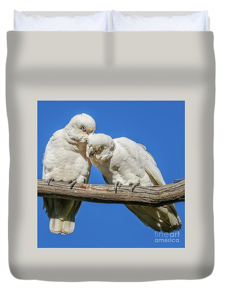 Two Corellas Duvet Cover