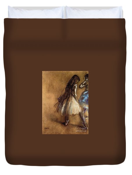 Two Dancers Duvet Cover by Degas