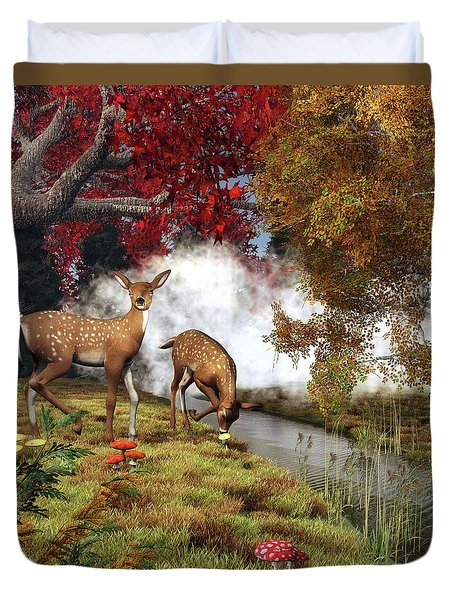 Two Deers Duvet Cover
