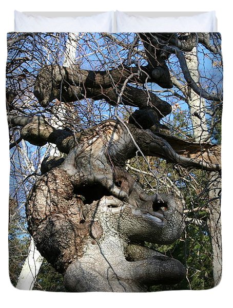 Two Elephants In A Tree Duvet Cover