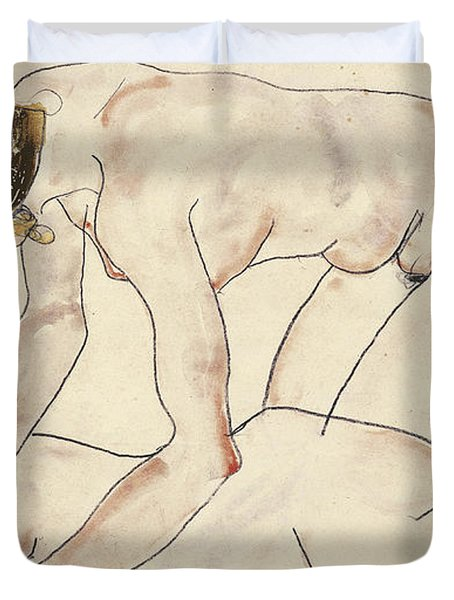 Two Female Nudes Duvet Cover