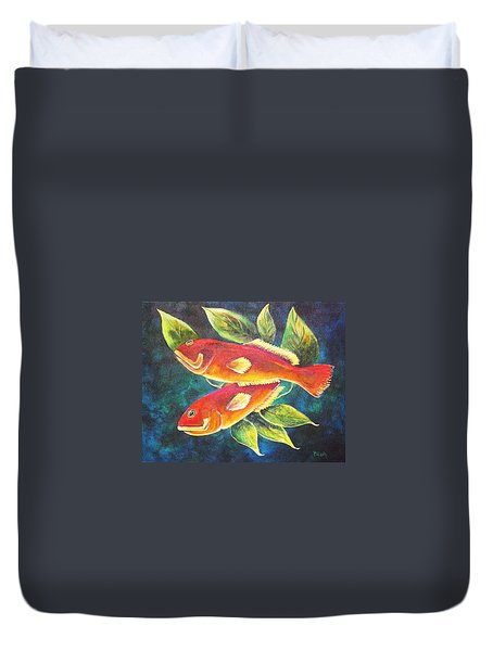 Two Fish Duvet Cover
