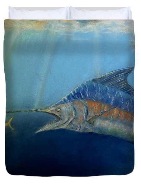 Two For Lunch Duvet Cover by Ceci Watson
