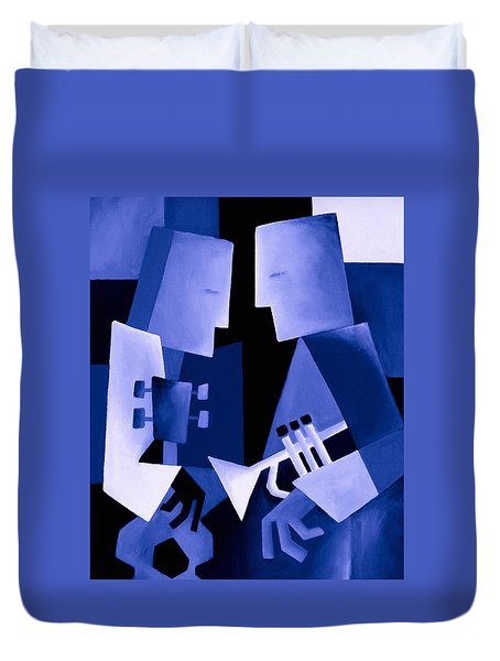 Two For The Blues Duvet Cover