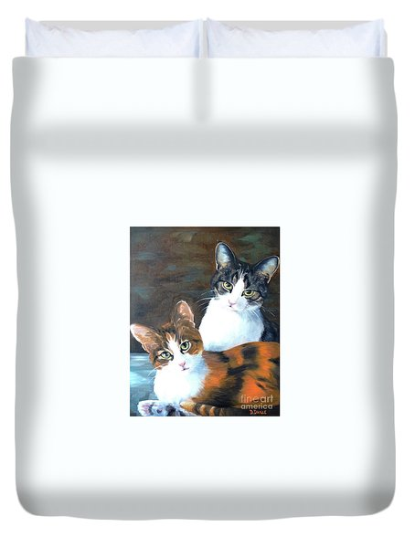 Two Friends Duvet Cover