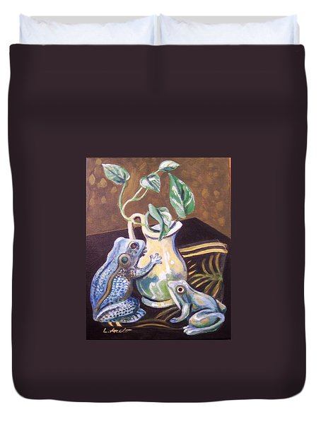 Two Frogs Duvet Cover
