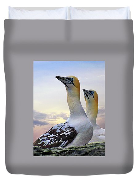 Two Gannets Duvet Cover