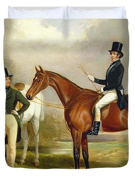 Two Gentlemen Out Hunting  Duvet Cover