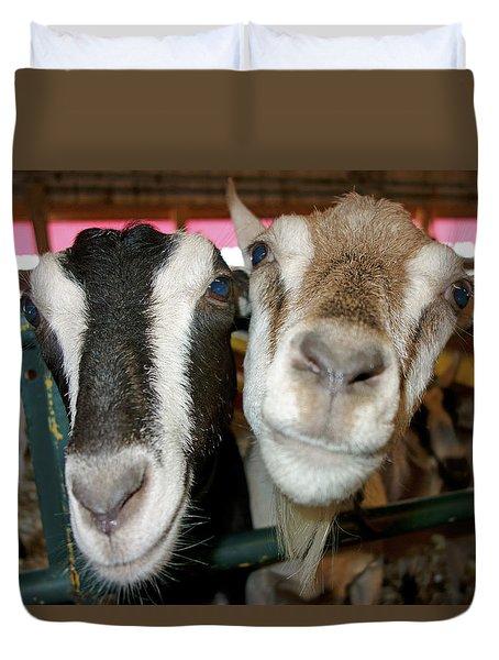 Two Goats Duvet Cover