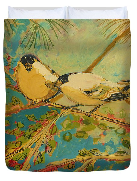 Two Goldfinch Found Duvet Cover