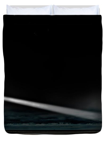 Two Guiding Lights Duvet Cover by Meirion Matthias