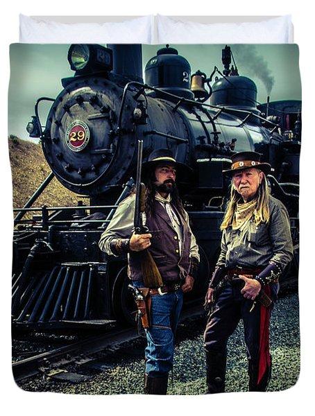 Two Gunfighters Duvet Cover