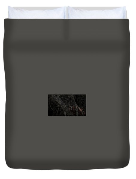 Two Hands On The Piano Duvet Cover