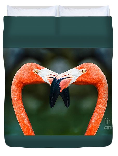 Two Heads Are Better Than One Duvet Cover by Judy Wolinsky